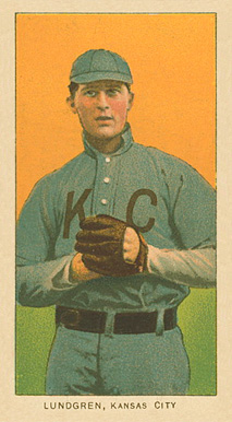 1909 White Borders Ghosts, Miscuts, Proofs, Blank Backs & Oddities Lundgren, Kansas City #293 Baseball Card