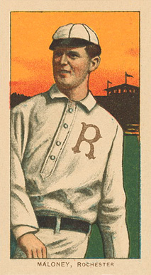 1909 White Borders Ghosts, Miscuts, Proofs, Blank Backs & Oddities Maloney, Rochester #299 Baseball Card