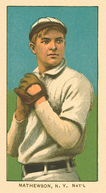1909 White Borders Ghosts, Miscuts, Proofs, Blank Backs & Oddities Mathewson, N.Y. Nat'L #309 Baseball Card