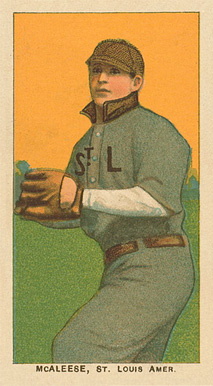 1909 White Borders Ghosts, Miscuts, Proofs, Blank Backs & Oddities McAleese, St. Louis Amer. #311 Baseball Card