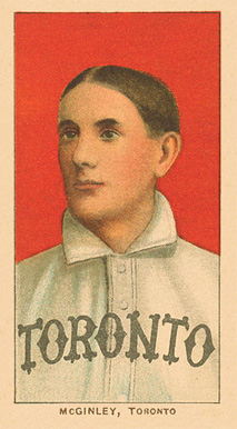 1909 White Borders Ghosts, Miscuts, Proofs, Blank Backs & Oddities McGinley, Toronto #317 Baseball Card