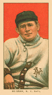 1909 White Borders Ghosts, Miscuts, Proofs, Blank Backs & Oddities McGraw, N.Y. Nat'L #323 Baseball Card