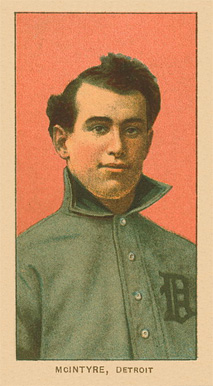 1909 White Borders Ghosts, Miscuts, Proofs, Blank Backs & Oddities McIntyre. Detroit #326 Baseball Card