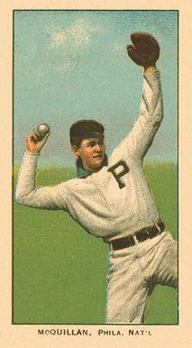 1909 White Borders Ghosts, Miscuts, Proofs, Blank Backs & Oddities McQuillan, Phila. Nat'L #328 Baseball Card