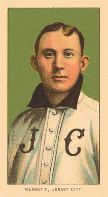 1909 White Borders Ghosts, Miscuts, Proofs, Blank Backs & Oddities Merritt, Jersey City #332 Baseball Card