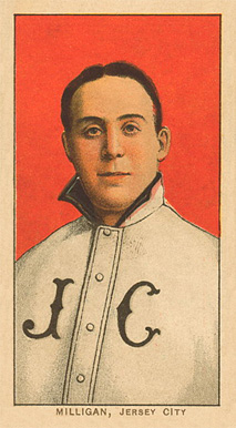 1909 White Borders Ghosts, Miscuts, Proofs, Blank Backs & Oddities Milligan, Jersey City #337 Baseball Card