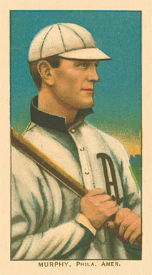 1909 White Borders Ghosts, Miscuts, Proofs, Blank Backs & Oddities Murphy, Phila. Amer. #350 Baseball Card