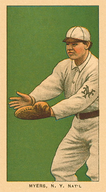 1909 White Borders Ghosts, Miscuts, Proofs, Blank Backs & Oddities Myers, N.Y. Nat'L #355 Baseball Card