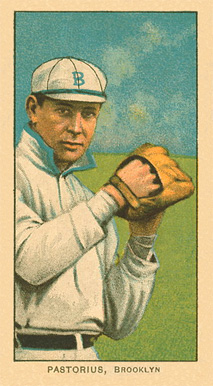 1909 White Borders Ghosts, Miscuts, Proofs, Blank Backs & Oddities Pastorius, Brooklyn #380 Baseball Card