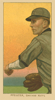1909 White Borders Ghosts, Miscuts, Proofs, Blank Backs & Oddities Pfeister, Chicago Nat'L #390 Baseball Card
