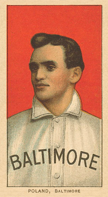 1909 White Borders Ghosts, Miscuts, Proofs, Blank Backs & Oddities Poland, Baltimore #396 Baseball Card