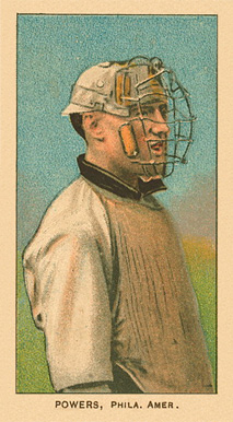1909 White Borders Ghosts, Miscuts, Proofs, Blank Backs & Oddities Powers, Phila. Amer. #398 Baseball Card