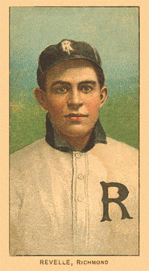 1909 White Borders Ghosts, Miscuts, Proofs, Blank Backs & Oddities Revelle, Richmond #408 Baseball Card
