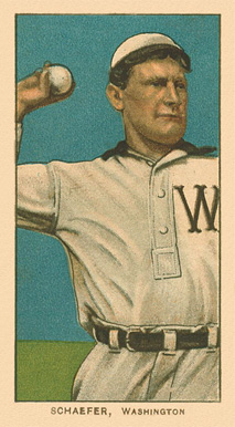 1909 White Borders Ghosts, Miscuts, Proofs, Blank Backs & Oddities Schaefer, Washington #421 Baseball Card