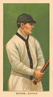 1909 White Borders Ghosts, Miscuts, Proofs, Blank Backs & Oddities Schirm, Buffalo #422 Baseball Card