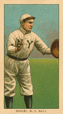 1909 White Borders Ghosts, Miscuts, Proofs, Blank Backs & Oddities Schlei, N.Y. Nat'L #425 Baseball Card