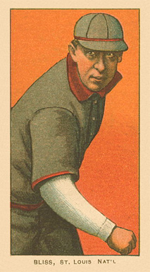 1909 White Borders Ghosts, Miscuts, Proofs, Blank Backs & Oddities Bliss, St. Louis Nat'l #43 Baseball Card