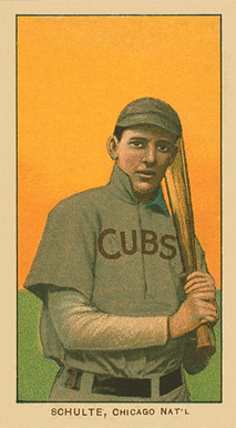 1909 White Borders Ghosts, Miscuts & Oddities Schulte, Chicago Nat'L #430 Baseball Card