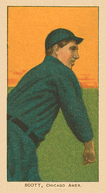 1909 White Borders Ghosts, Miscuts, Proofs, Blank Backs & Oddities Scott, Chicago Amer. #432 Baseball Card