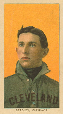 1909 White Borders Ghosts, Miscuts, Proofs, Blank Backs & Oddities Bradley, Cleveland #45 Baseball Card