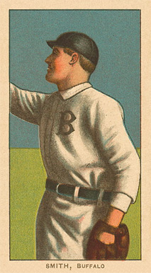 1909 White Borders Ghosts, Miscuts, Proofs, Blank Backs & Oddities Smith, Buffalo #451 Baseball Card