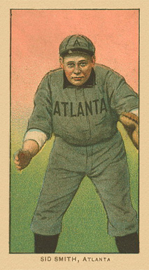 1909 White Borders Ghosts, Miscuts, Proofs, Blank Backs & Oddities Sid Smith, Atlanta #452 Baseball Card