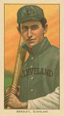 1909 White Borders Ghosts, Miscuts, Proofs, Blank Backs & Oddities Bradley, Cleveland #46 Baseball Card