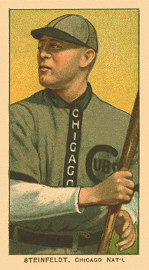 1909 White Borders Ghosts, Miscuts, Proofs, Blank Backs & Oddities Steinfeldt, Chicago Nat'L #464 Baseball Card