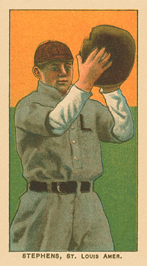 1909 White Borders Ghosts, Miscuts, Proofs, Blank Backs & Oddities Stephens, St. Louis Amer. #465 Baseball Card
