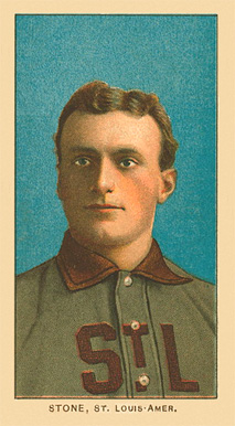 1909 White Borders Ghosts, Miscuts, Proofs, Blank Backs & Oddities Stone, St. Louis Amer. #466 Baseball Card