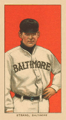 1909 White Borders Ghosts, Miscuts, Proofs, Blank Backs & Oddities Strang, Baltimore #469 Baseball Card