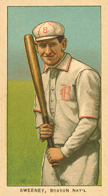 1909 White Borders Ghosts, Miscuts, Proofs, Blank Backs & Oddities Sweeney Boston Nat'L #474 Baseball Card