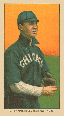 1909 White Borders Ghosts, Miscuts, Proofs, Blank Backs & Oddities L. Tannehill, Chicago Amer. #477 Baseball Card