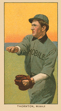 1909 White Borders Ghosts, Miscuts, Proofs, Blank Backs & Oddities Thornton, Mobile #484 Baseball Card