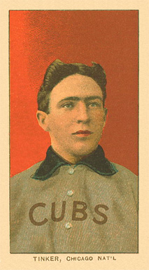 1909 White Borders Ghosts, Miscuts, Proofs, Blank Backs & Oddities Tinker, Chicago Nat'L #488 Baseball Card