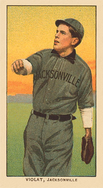 1909 White Borders Ghosts, Miscuts, Proofs, Blank Backs & Oddities Violat, Jacksonville #492 Baseball Card