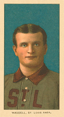1909 White Borders Ghosts, Miscuts, Proofs, Blank Backs & Oddities Waddell, St. Louis Amer. #493 Baseball Card