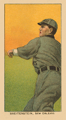 1909 White Borders Ghosts, Miscuts, Proofs, Blank Backs & Oddities Breitenstein, New Orleans #50 Baseball Card