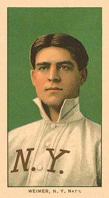 1909 White Borders Ghosts, Miscuts, Proofs, Blank Backs & Oddities Weimer, N.Y. Nat'L #501 Baseball Card