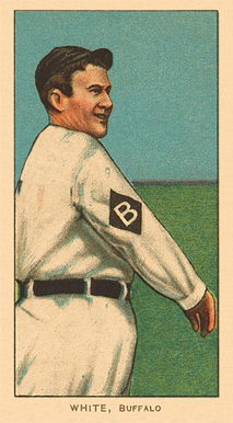1909 White Borders Ghosts, Miscuts, Proofs, Blank Backs & Oddities White, Buffalo #507 Baseball Card