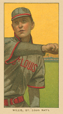 1909 White Borders Ghosts, Miscuts, Proofs, Blank Backs & Oddities Willis, St. Louis Nat'L #514 Baseball Card
