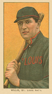 1909 White Borders Ghosts, Miscuts, Proofs, Blank Backs & Oddities Willis, St. Louis Nat'L #515 Baseball Card