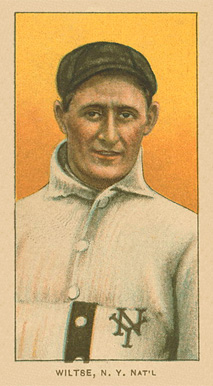 1909 T206 White Borders (Ghosts, Miscuts & Oddities) Hooks Wiltse #519 Baseball Card