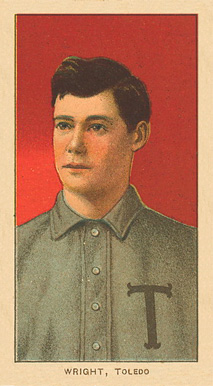 1909 White Borders Ghosts, Miscuts, Proofs, Blank Backs & Oddities Wright, Toledo #520 Baseball Card