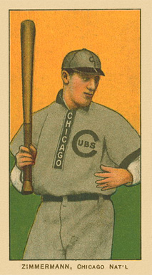 1909 T206 White Borders (Ghosts, Miscuts & Oddities) Heinie Zimmerman #525 Baseball Card