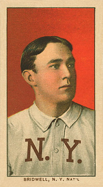 1909 White Borders Ghosts, Miscuts, Proofs, Blank Backs & Oddities Bridwell, N.Y. Nat'L #54 Baseball Card