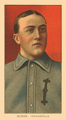 1909 White Borders Ghosts, Miscuts, Proofs, Blank Backs & Oddities Burke, Indianapolis #63 Baseball Card