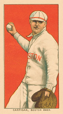 1909 White Borders Ghosts, Miscuts, Proofs, Blank Backs & Oddities Carrigan, Boston Amer. #74 Baseball Card