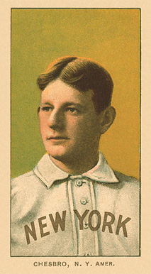 1909 White Borders Ghosts, Miscuts, Proofs, Blank Backs & Oddities Chesbro, N.Y. Amer. #87 Baseball Card