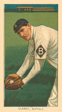 1909 White Borders Ghosts, Miscuts, Proofs, Blank Backs & Oddities Clancy, Buffalo #89 Baseball Card